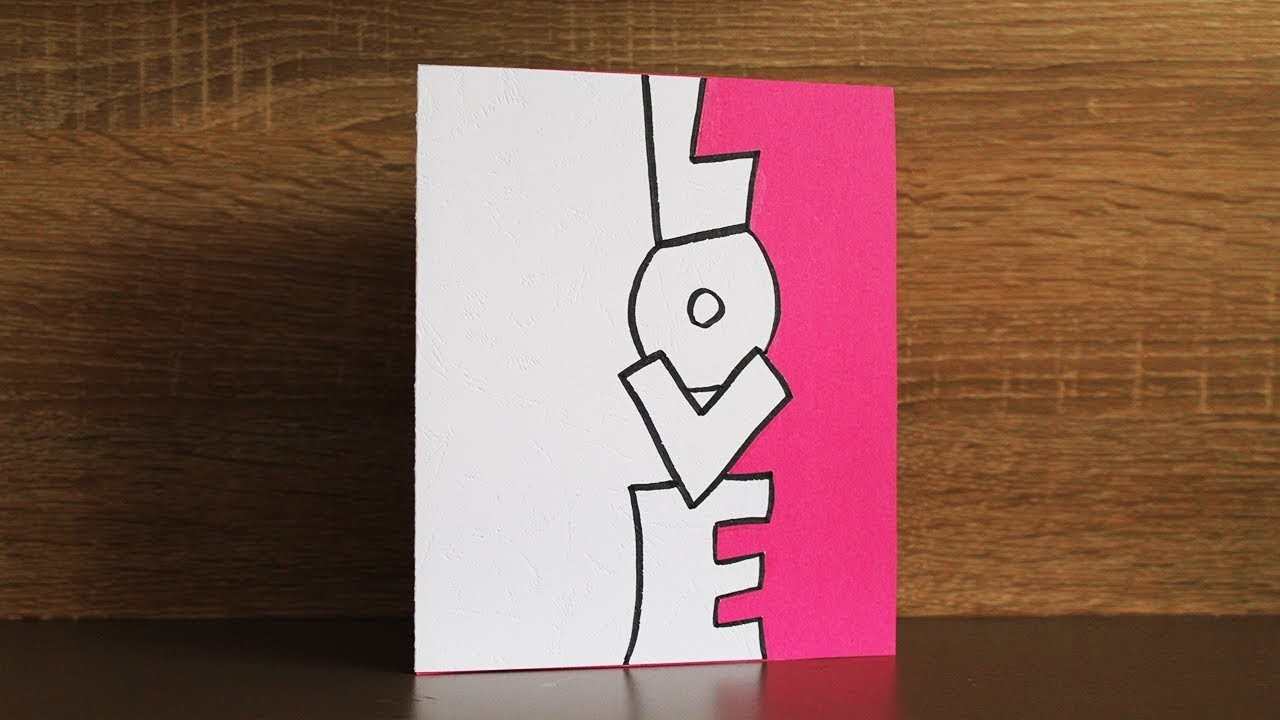 How to make love cards for boyfriend - Handmade cards for love