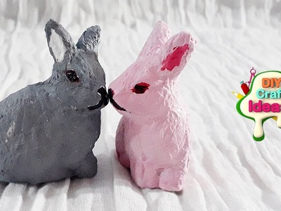How to make rabbits from Tissue paper | Tissue paper rabbits | diy craft ideas