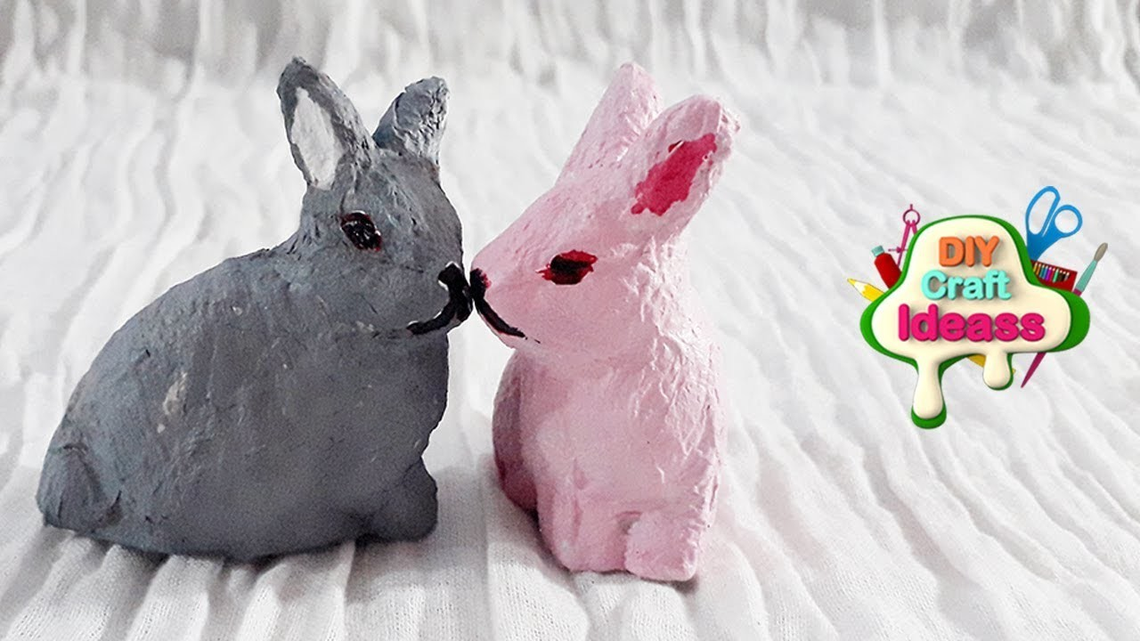 How to make rabbits from Tissue paper   Tissue paper rabbits   diy craft ideas