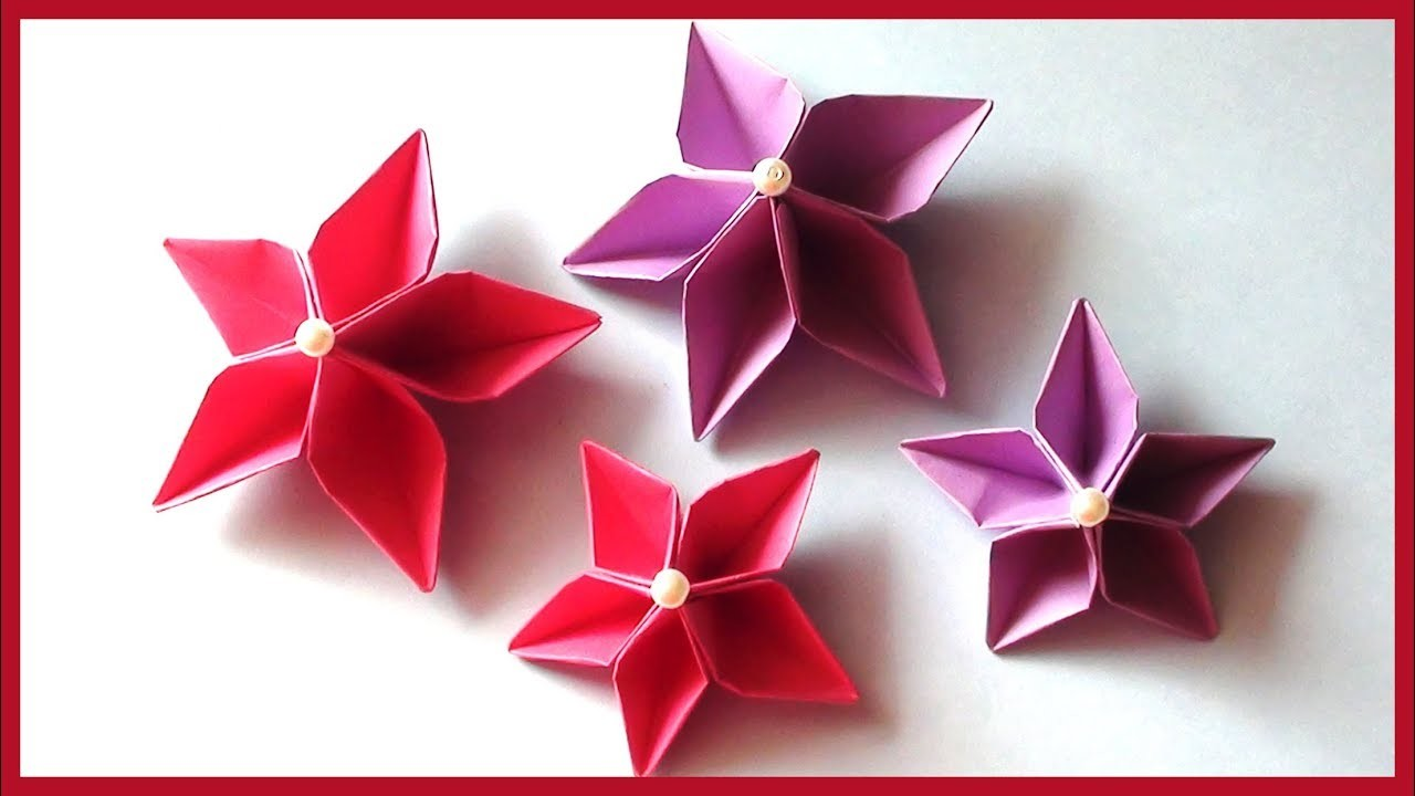 How To Make Simple Easy Paper Flowers Tutorial