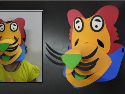 Kids Crafts Ideas   How to make Felt.Foam Lion Mask   Handmade DIY Kids toys
