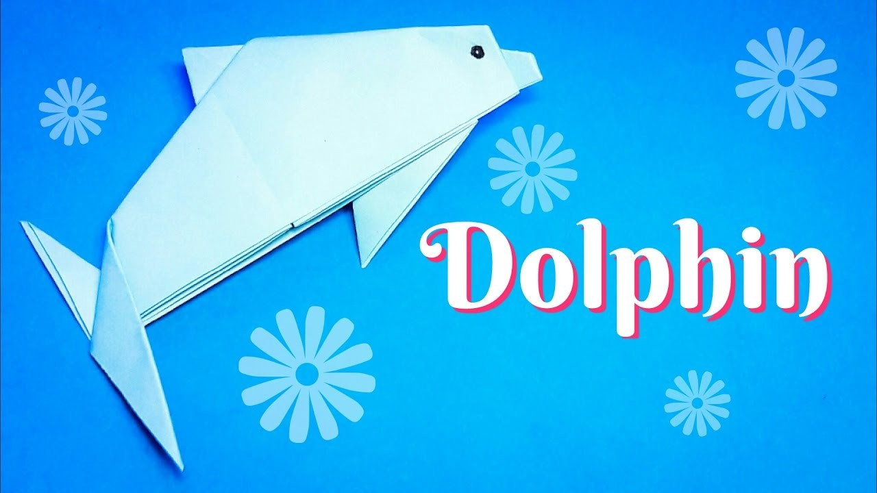 Easy Origami Dolphin To Fold Follow Hd Tutorial Mouse Diagram Embroidery