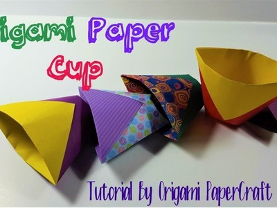 Origami Paper Cup II Tutorials By Origami paperCraft