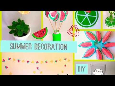 ????Summer DIY room decor 2018????. DIY fruits craft????