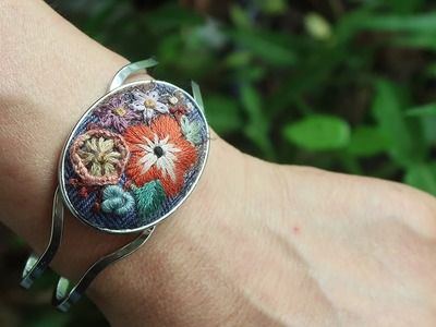 프랑스자수 팔찌 만들기 │ How To Make a Embroidery Bracelet │ DIY Craft Tutorial