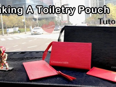 Tutorial : How To Make A Toiletry Pouch, Leather Craft