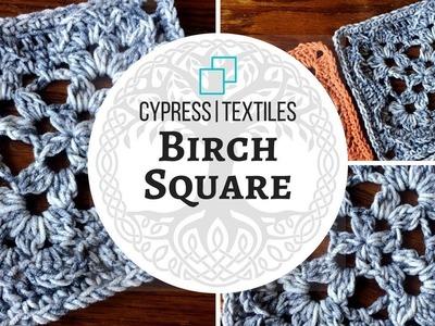 VVCAL 2018 Week 7 Crochet Motif: Birch Square