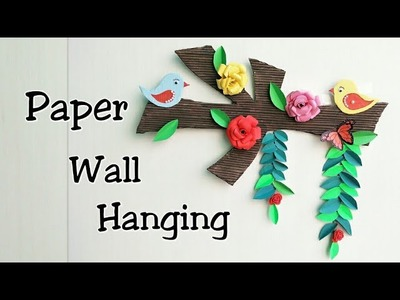 Wall Hanging from Paper.Card Board Craft.Wall Decoration Idea.Room Decor.Wall Hanging Making Ideas