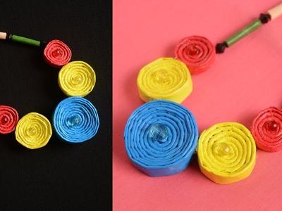 3 BEAUTIFUL MALA NECKLACE MAKING || BEST ART AND CRAFT IDEA