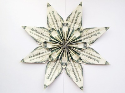 BIG FLOWER | Decoration for room IDEAS | Money Origami Dollar Tutorial DIY