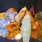 Calcite Crystal Stones Rock Piece Decorative Stone Gem