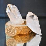 Clear Quartz Crystal Point Stone Rock Piece Decorative Stones Gem