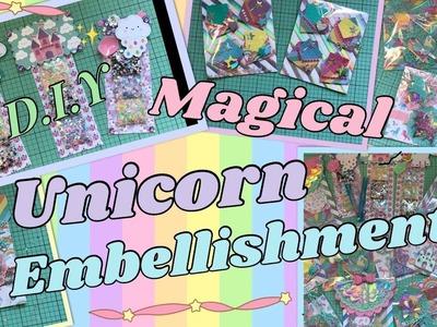 D.I.Y MAGICAL UNICORN EMBELLISHMENTS!!! HAPPY MAIL IDEAS.INSPO!!