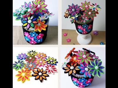 Decorative vase tutorials. DIY Quilling Flower Vase