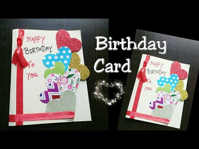 DIY Birthday Card For Boyfriendgirlfriend