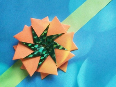 DIY How to make Rakhi Easily at Home With Paper. Flower Crafts Ideas