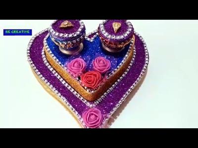 DIY l engagement plate l indian wedding craft ideas