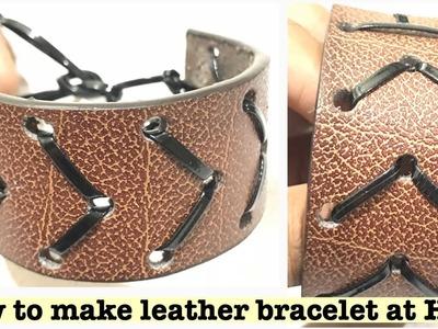 DIY LEATHER BRACELETS | How to Make Leather Bracelet at Home Using Old Leather Belts | reuse ideas