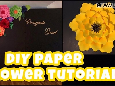 DIY Paper Flower Tutorial | AW Decors