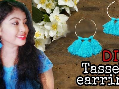 DIY Tassel Earrings|How to make Tassel earring at home. easy steps. ArtHolic KM