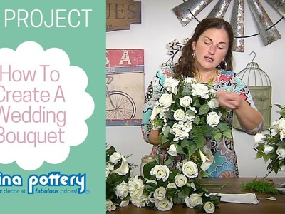 DIY Wedding Bouquet Tutorial - Carolina Pottery