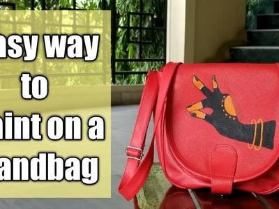 Easy way to decorate a handbag I DIY