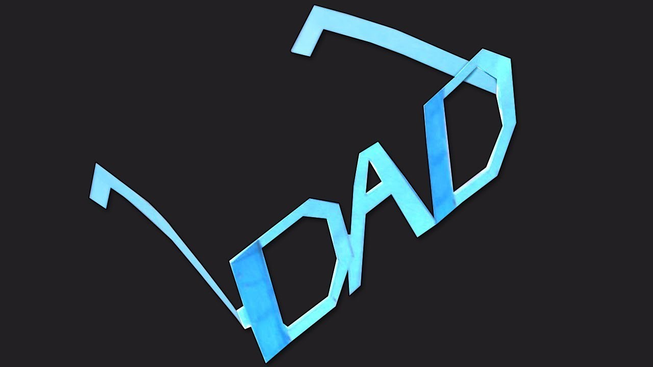 Fathers Day Craft | Make Dad Goggles.Shades | Simple DIY