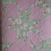 Handmade Baby Girl Quilt 100 % Cotton Flannel