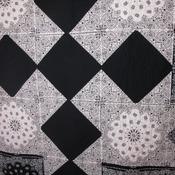 Modern handmade western style bandana quilt 100 % cotton large lap twin size ready to ship