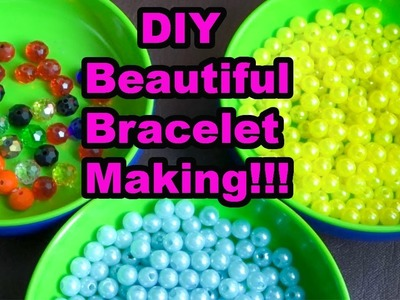 Home made diy pearl jewelary|bracelet making tutorial|bridal jewellary