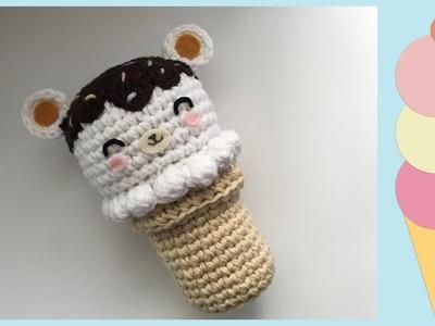 How to Crochet Giant Bear Ice Cream Cone ????????   Amigurumi