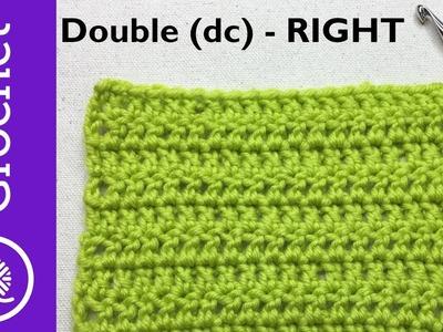 How to Double Crochet - Beginner Crochet Lesson 3 - Left Handed (CC)