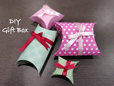 How to make easy gift box | DIY paper gift box tutorial