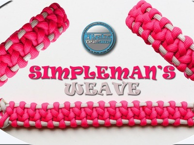 How To Make Paracord Bracelet Simpleman's Weave Female Edition Paracord DIY Tutorial