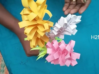 Craft how to make simple paper flowers l paper craft ideasdiy how to make simple paper flowers l paper craft ideasdiy mightylinksfo