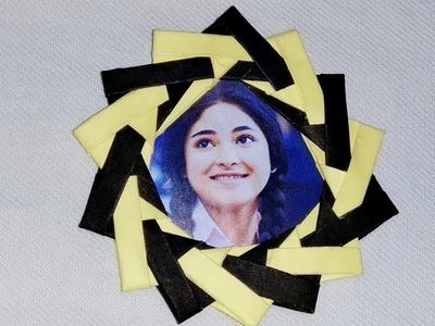Origami paper photo frame. paper craft.photo frame making.diy photo frame.kids craft.Art Gallery