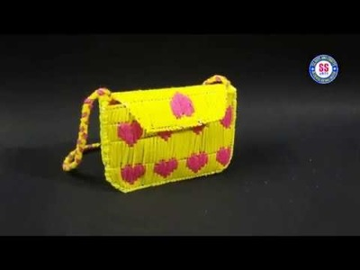 Plastic canvas craft  How to make Plastic canvas clutch bag ssartscrafts