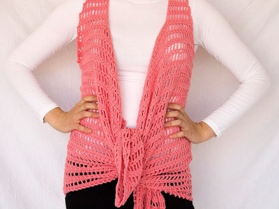 Sandy beach vest sewing technique + Free Crochet Pattern
