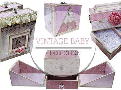 SCRAPBOOK - DIY TUTORIAL: Vintage Baby Collection.Maja Design, Vintage Baby