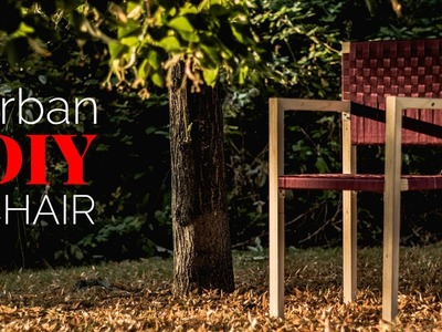 Simple outdoor furniture. Modern DIY Chair. How to WEAVE a Chair.