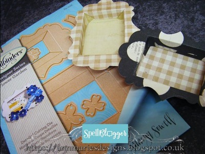 53. Spellbinders Dies: How to make a Tiny Shadow Box
