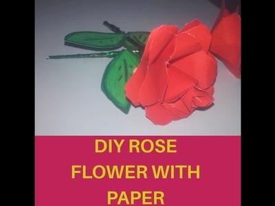 Beautiful DIY Rose with paper