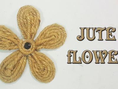 Beautiful Jute Flower   How to make Jute Flower    Creative Idea #22.