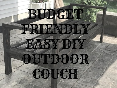 BUDGET FRIENDLY EASY DIY OUTDOOR COUCH
