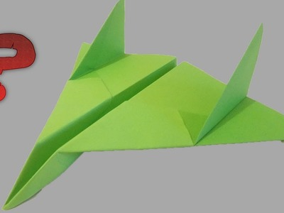 Cool Paper Plane || How To Make Origami Plane
