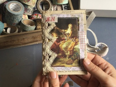 Craft with me | book page notebook | how to | ephemera