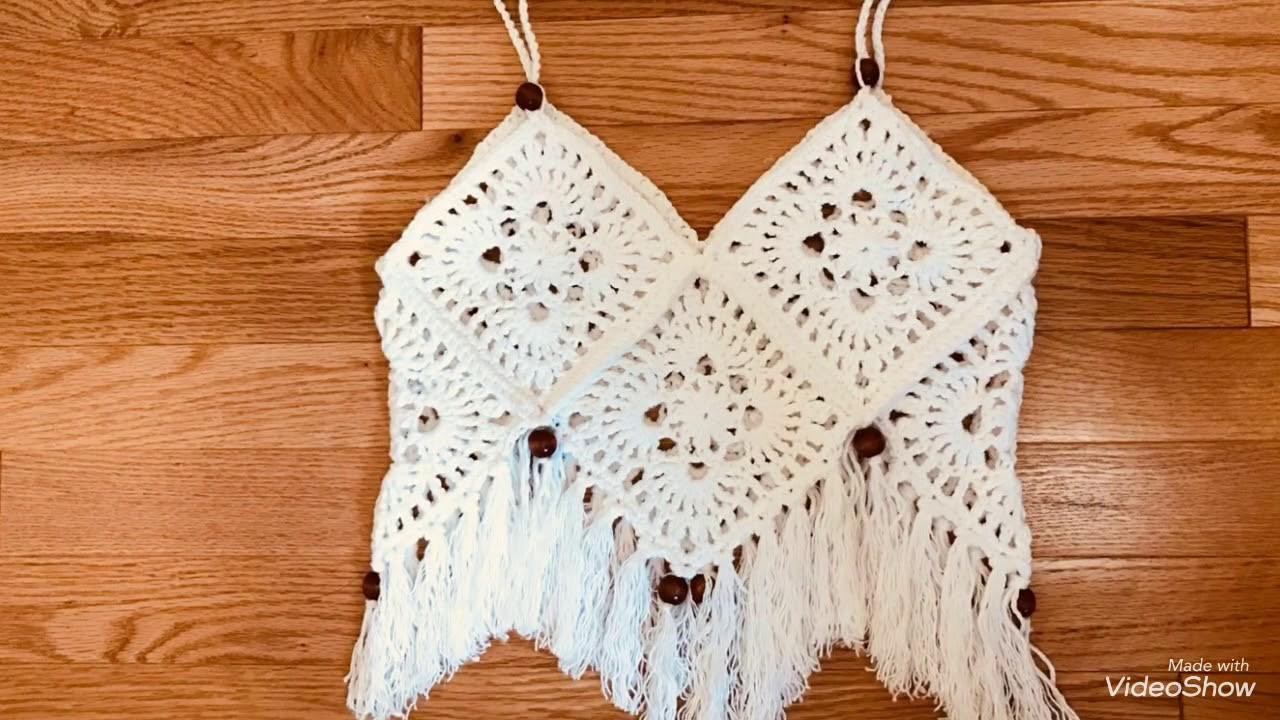 Crochet Croptop Boho Style | Truc Nguyen Handmade.