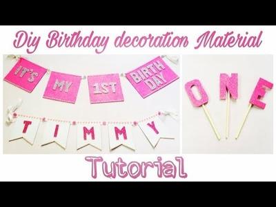 DIY First Birthday Decoration Material | DIY Birthday Decoration Idea | DIY Birthday Decoration