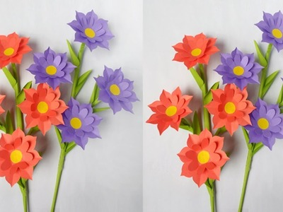 DIY: Flower Stick.DIY-Paper Flowers.DIY-Paper Flower Stick For Room Decoration!!!