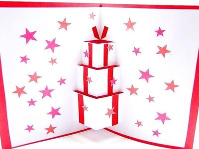 DIY Pop Up Gift Card For Birthday